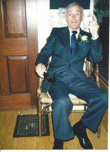 My father, photographed in July 2000.  The last picture I have him before his death in 2003.